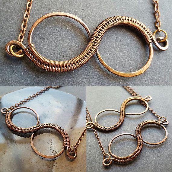 Kupfer Infinity Kette handgemachte Draht gewickelt