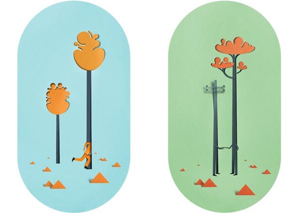 Eiko Ojala, ilustraciones de papel con sentido del humor   Diseño online   Experimenta