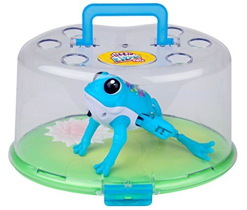The Lil' Frog Tank comes with its own floating lily pad! Remove the lid and place the lily pad in the water to let your Lil' Frog go for a hop. Then watch them jump in and go for a swim! It's t...
