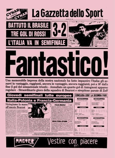 Gazzetta dello Sport 6 Luglio 1982
