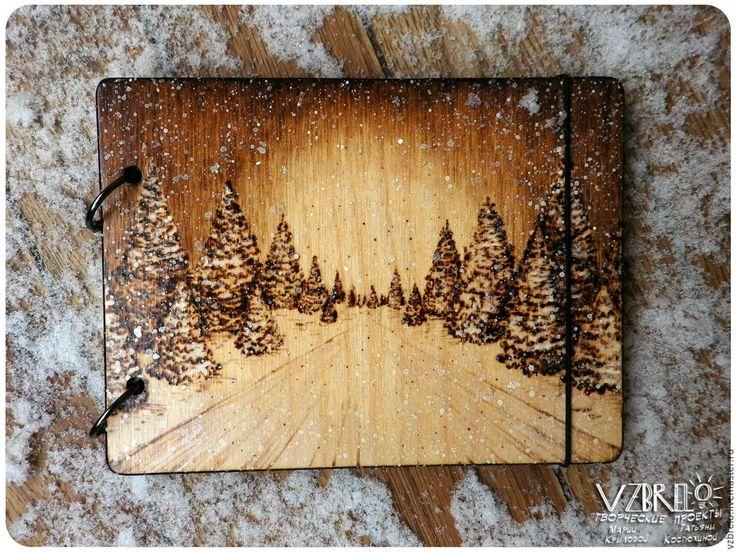 """Купить Деревянный блокнот """"Вдаль"""" - vzbrelo, взбрело, деревянный блокнот, деревянный скетчбук, деревянный артбук"""