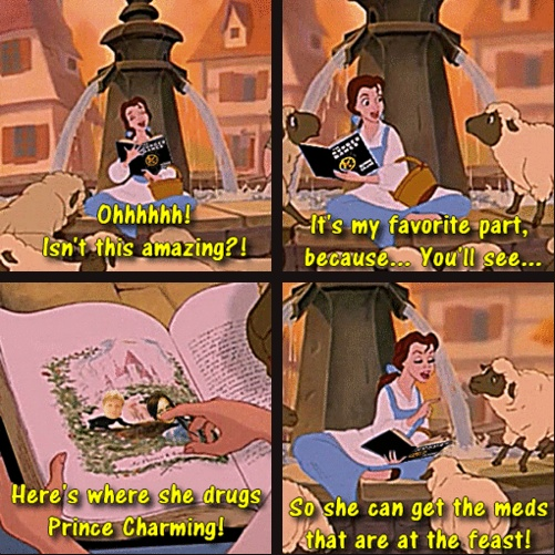 Belle reads The Hunger Games.