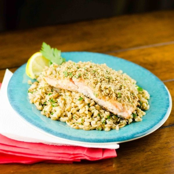 Quick And Easy Pecan Crusted Dijon Salmon