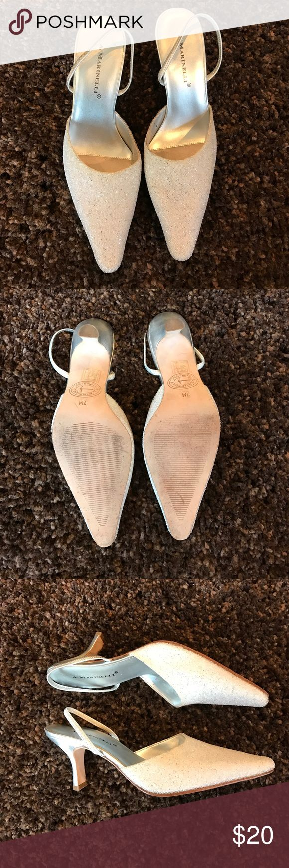 A. Marinelli heels Silver sparkly color. Size 7. 3 inch heels. Shoes Heels