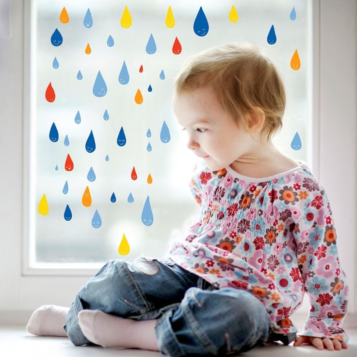 Llueva o no llueva, disfruta de estas gotitas y sus colores :D. Vinilos decorativos para niños Chispum