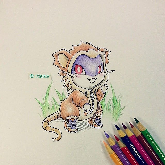 Rattata in Raticate onesie by itsbirdy