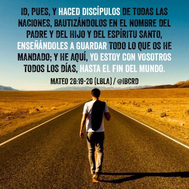 Centro Cristiano para la Familia: Mateo 28:19-20