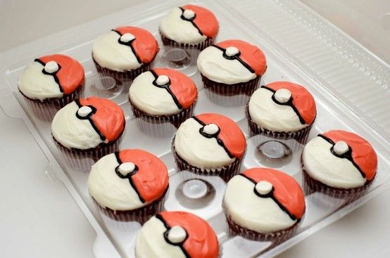 my childhood in cupcake form- Pokemon  cupcakes