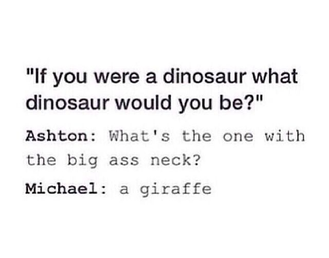5sos interview about dinosaurs and giraffes