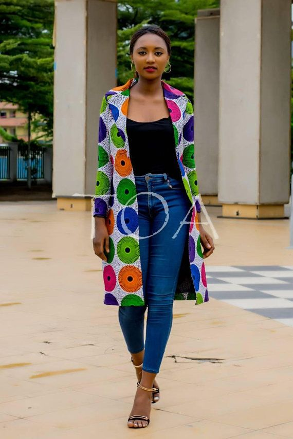 Ankara Jacket The Luxor Ankara Blazers Long African Print Jacket African Fashion Designers