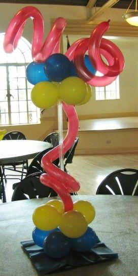 Decorazione di Carnevale con i palloncini - Con i palloncini ci possiamo sbizzarrire, ad esempio creando decorazioni come questa
