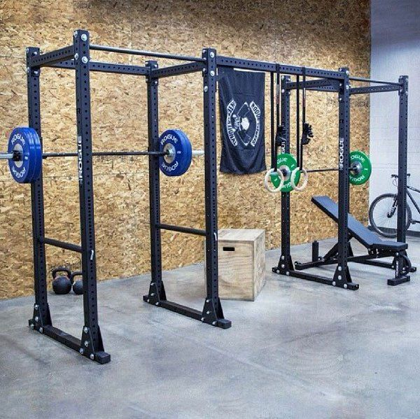 The ultimate his and her matching Rogue RML-3 monster racks - Clicky to see it at Rogue #garagegym
