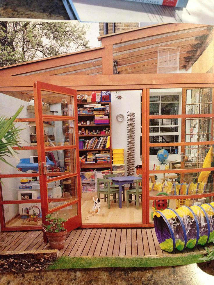 Sunroom playroom. We need to do this with our screened patio...