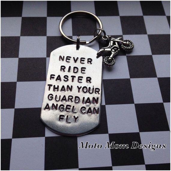 Never Ride Faster Than Your Guardian Angel Can Fly Motorcycle