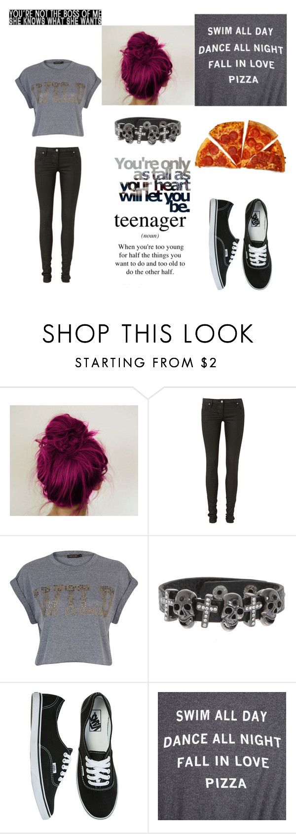 """I'z be eatin pizza!!!!!"" by simply-ally01 ❤ liked on Polyvore featuring sass & bide, River Island, Vans and Wildfox"