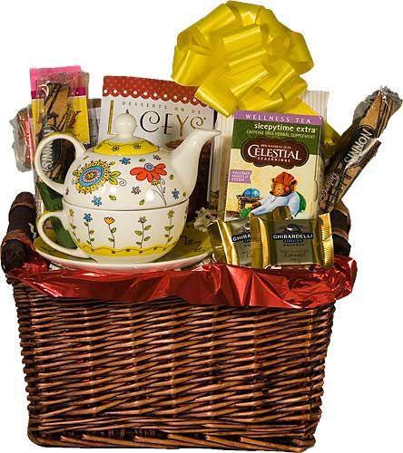 tea gift baskets | ... Tea Gift Baskets, Gourmet Tea Gift Basket, Thank You Gift With Tea