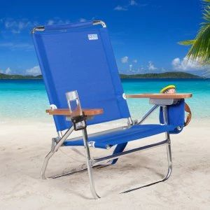 Beach Folding Chair Outdoor Patio Summer Relaxation Comfort Padded Lounge  New