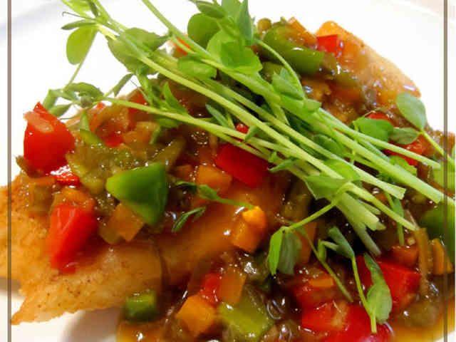 カレイ の唐揚げ 中華風 甘酢 あんかけ 魚料理