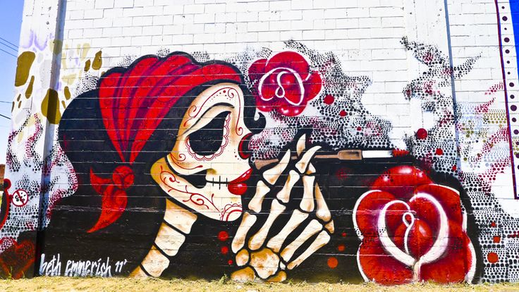Day of the dead graffiti mural day of the dead pinterest for Day of the dead mural
