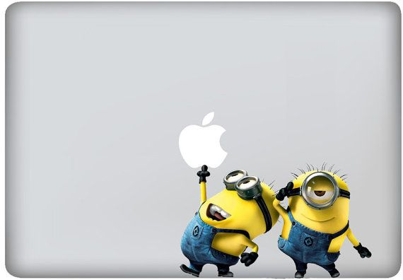 despicable me minions macbook decals mac decal macbook pro decal macbook air decals ipad iphone 1 2 3 4 5 stickers decal mac apple stickers via Etsy