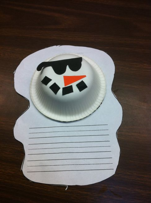 Adorable melted snowman...great writing inspiration!
