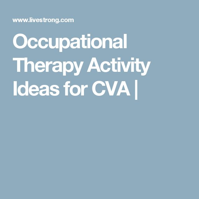 Occupational Therapy Activity Ideas for CVA |