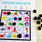 Free Printable Under the Sea Bingo -- would be a cute game for a mermaid birthday party