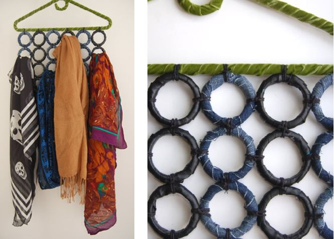 (studs and pearls): diy: Fabric Wrapped Scarf Holder