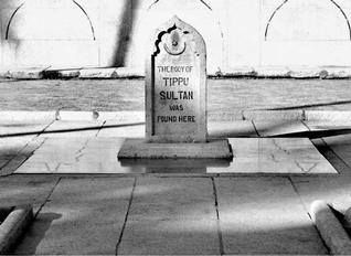 Fourth and last Mysore, Karnataka war started 17 Apr.A stone plaque showing where the body of Tipu Sultan was found at Srirangapatana