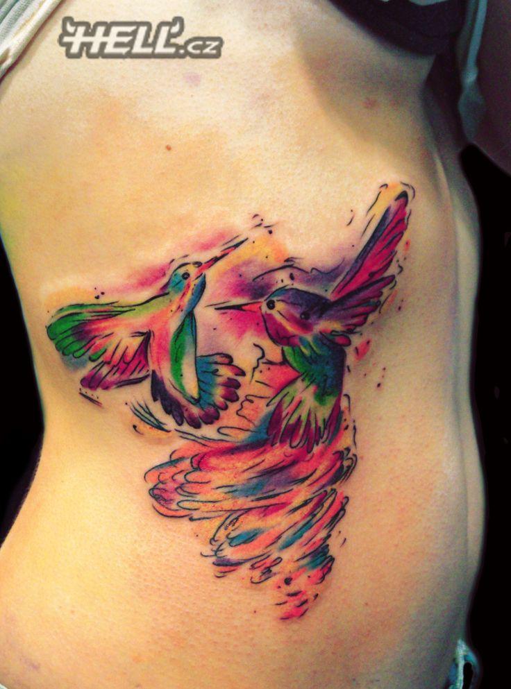 Hummingbird tattoo by Lukáš @ Hell.cz, Prague  - tetování kolibřík
