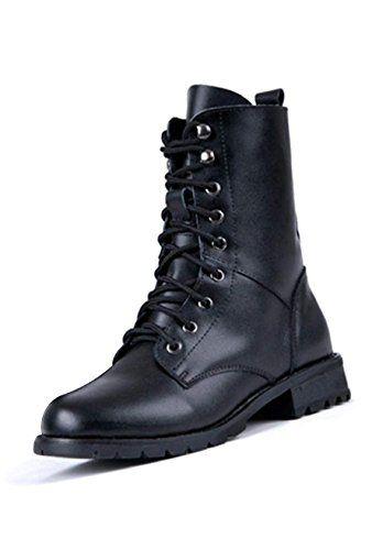 TOOGOO (R)Frauen Cool schwarz Militaer Armee PUNK Ritter Lace-up kurz Stiefel Schuhe 40 - http://on-line-kaufen.de/toogoo-r/toogoo-r-frauen-cool-schwarz-militaer-armee-punk