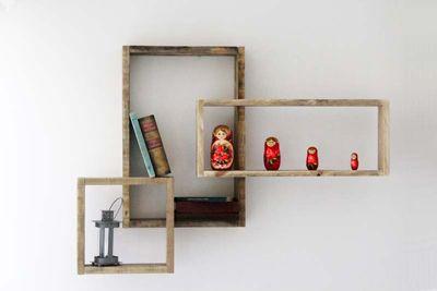 Étagère murale Devi en bois de palette design et contemporaine apercu