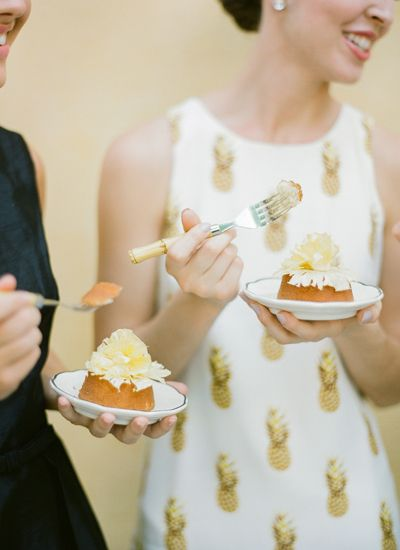 Mini pineapple cakes by PPHG | Desserts for your wedding day | Southern wedding inspiration | The William Aiken House in Charleston, South Carolina | Photo by KT Merry