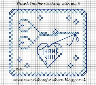 Creative Workshops from Hetti: SAL Delft Blue Love To Stitch Part 8