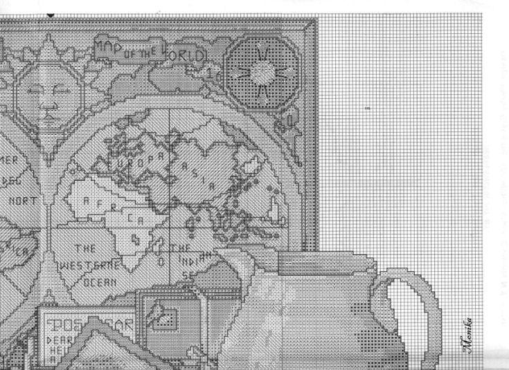 Gallery.ru / Фото #3 - Карта мира на стене - DELERJE