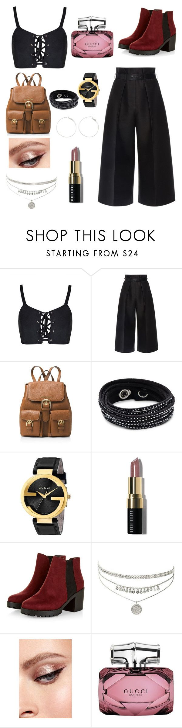 """""""Maggie Lindemann"""" by a1-helen-1a on Polyvore featuring Martin Grant, MICHAEL Michael Kors, Swarovski, Gucci and Bobbi Brown Cosmetics"""