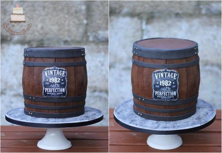 Whiskey barrel cake  by Sylwia