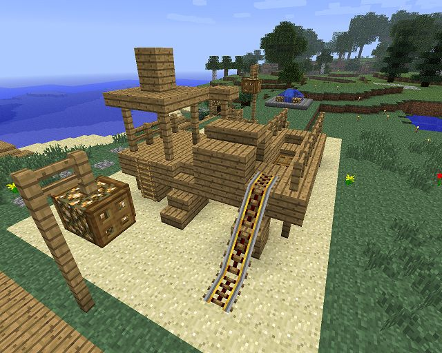 How To Build A Playground In Minecraft Woodworking