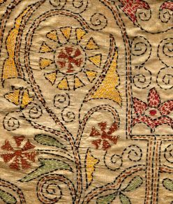 Kantha embroidery- Trying to make a scarf with a similar pattern.....Lets see how it turns out!!: