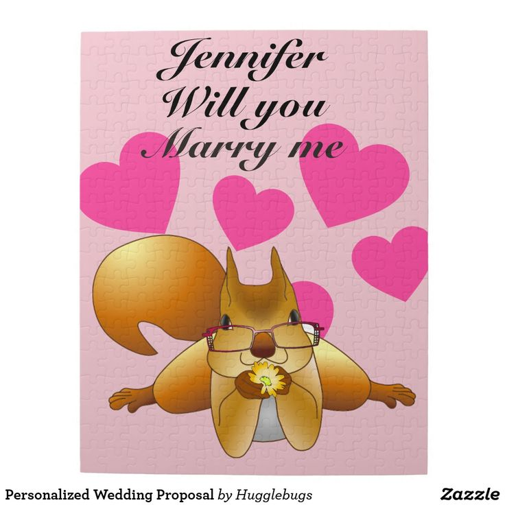 Personalized Wedding Proposal
