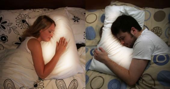 Long-distance Pillows:)  They light up when the other person is sleeping and lets you hear their heartbeat.   We need these! Or you shouldn't go away ;)