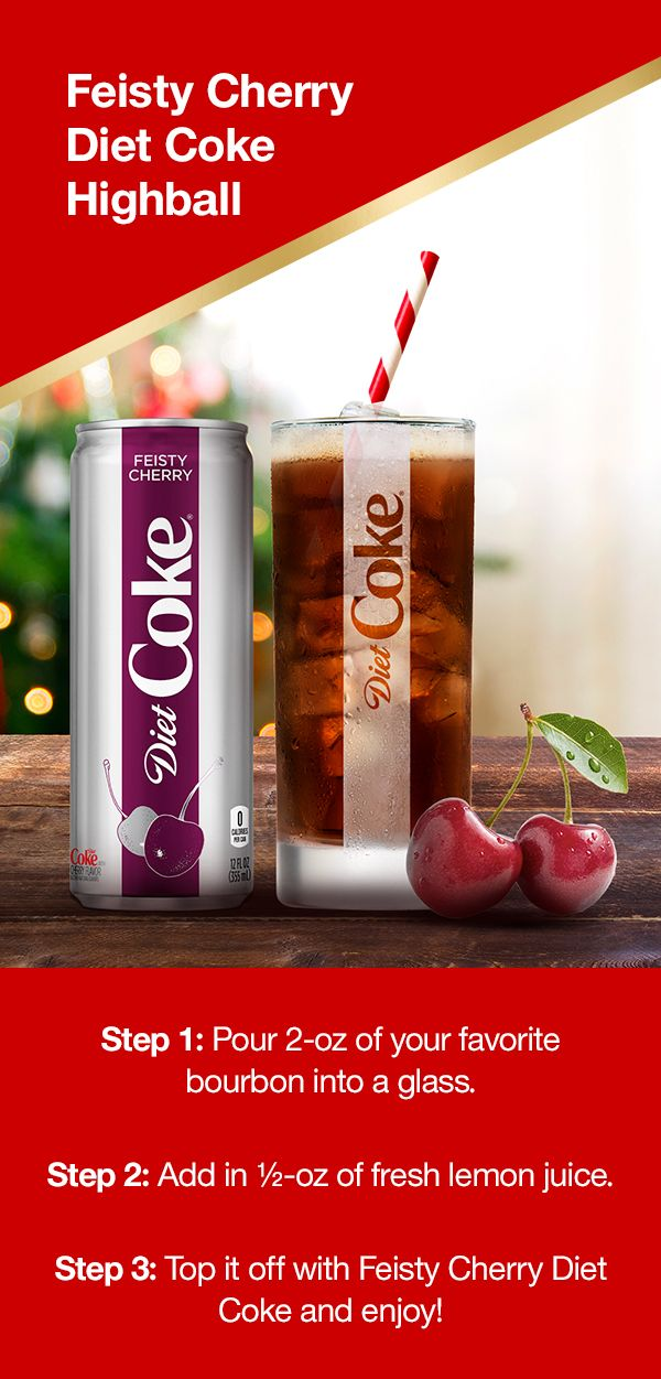 Have a flavorful holiday season with Diet Coke! Pour 2-oz of your