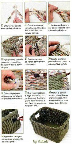 DIY Paper basket photo tutorial