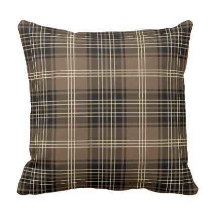 Plaid tartan throw pillow - diy cyo personalize design idea new special custom