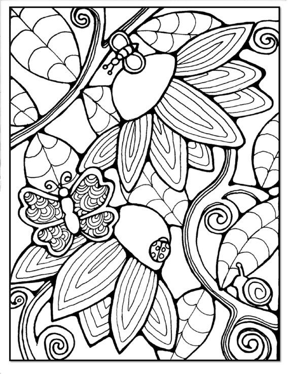 1007 best Coloring Pages images on Pinterest Coloring books - copy coloring pages flowers and butterflies