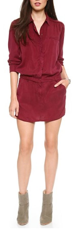 pretty burgundy military dress http://rstyle.me/n/uv6u2r9te
