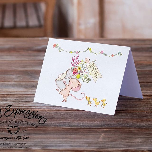 Here's a new design for a new baby card. This card is printed on white linen cardstock and comes with a matching white linen envelope.  Special Delivery - Inside Saying: Congratulations on your sweet baby!  #nettiesexpressions#handmadewithlove #shopthepa