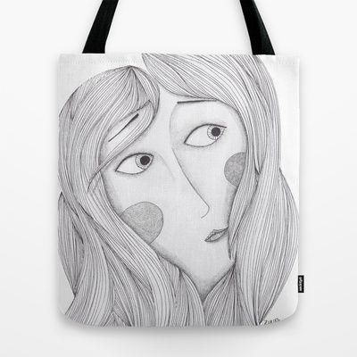 Glam Tote Bag by Zuriñe Aguirre Illustration - $22.00