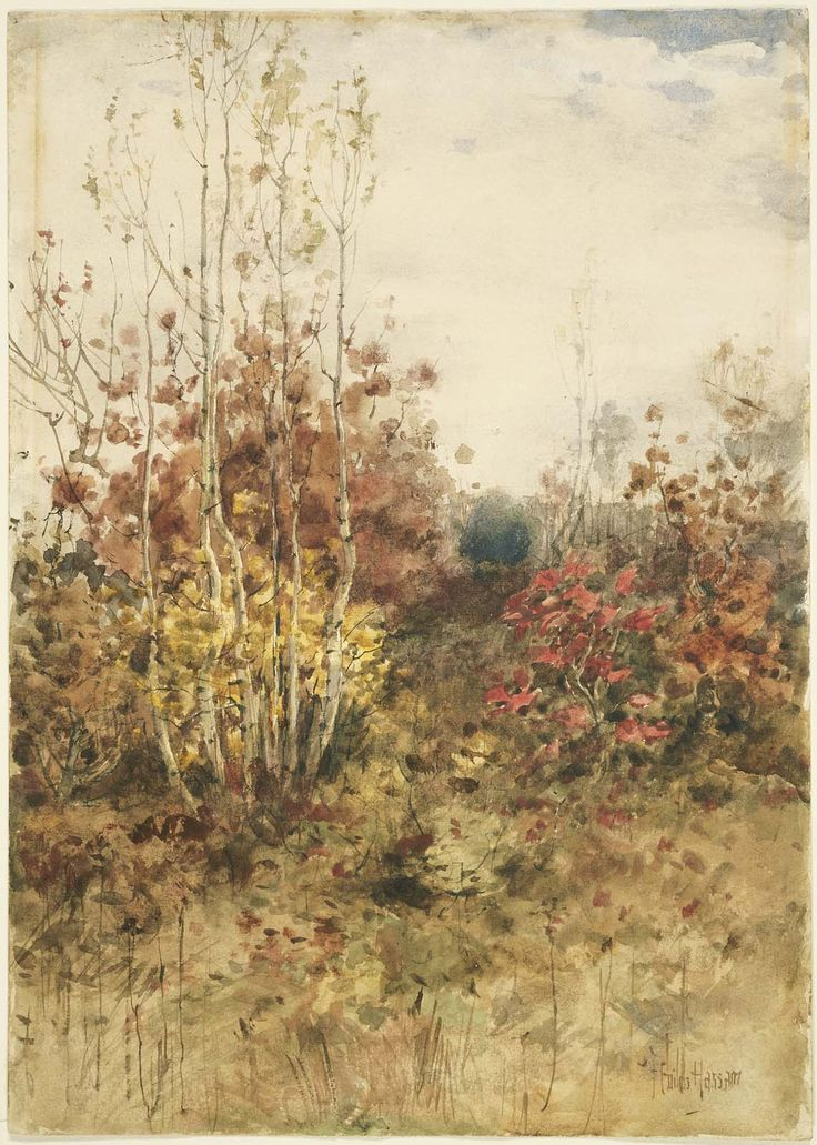 Woods in the Fall, Childe Hassam. Museum of Fine Arts, Boston