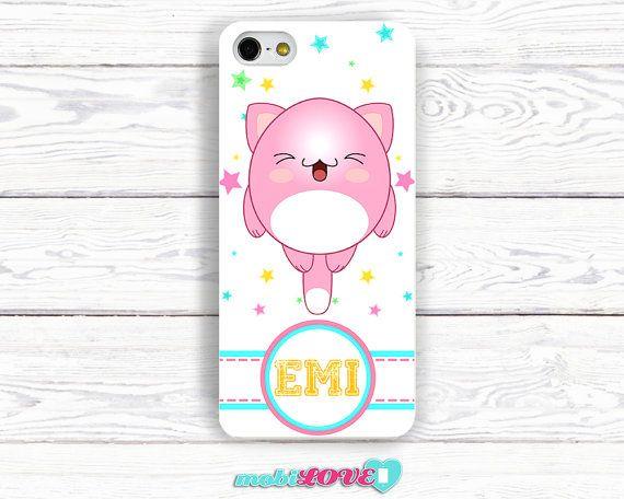 Yukai Neko Pink Kawaii Happy Cat  Hard Case for iPhone by MobiLove, £10.00